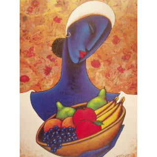 Indigo with Fruit - LaShunBeal.com