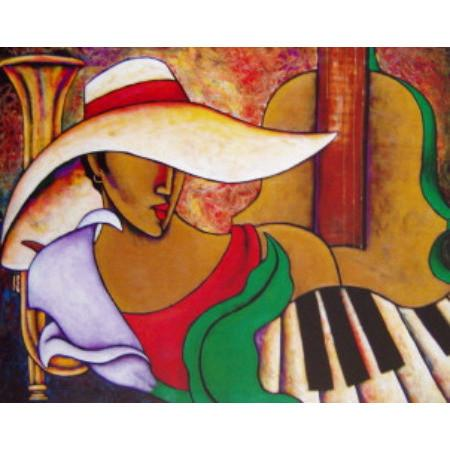 Music And Me Giclee Art Print On Canvas