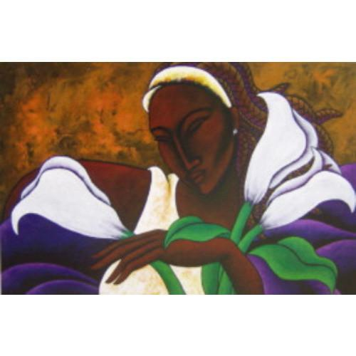 Ebony Beauty Giclee Art Print On Canvas