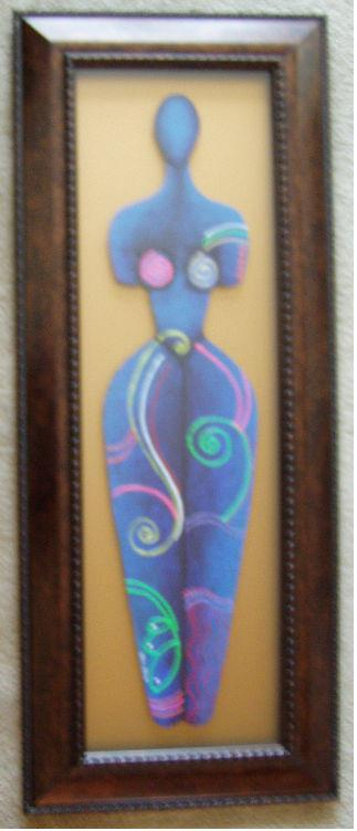 Body Beautiful #12 Acrylic Paint On Carved Board Art Original - LaShunBeal.com
