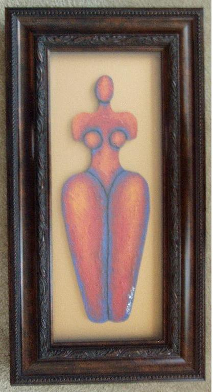 Body Beautiful #16 Acrylic Paint On Carved Board Art Original - LaShunBeal.com