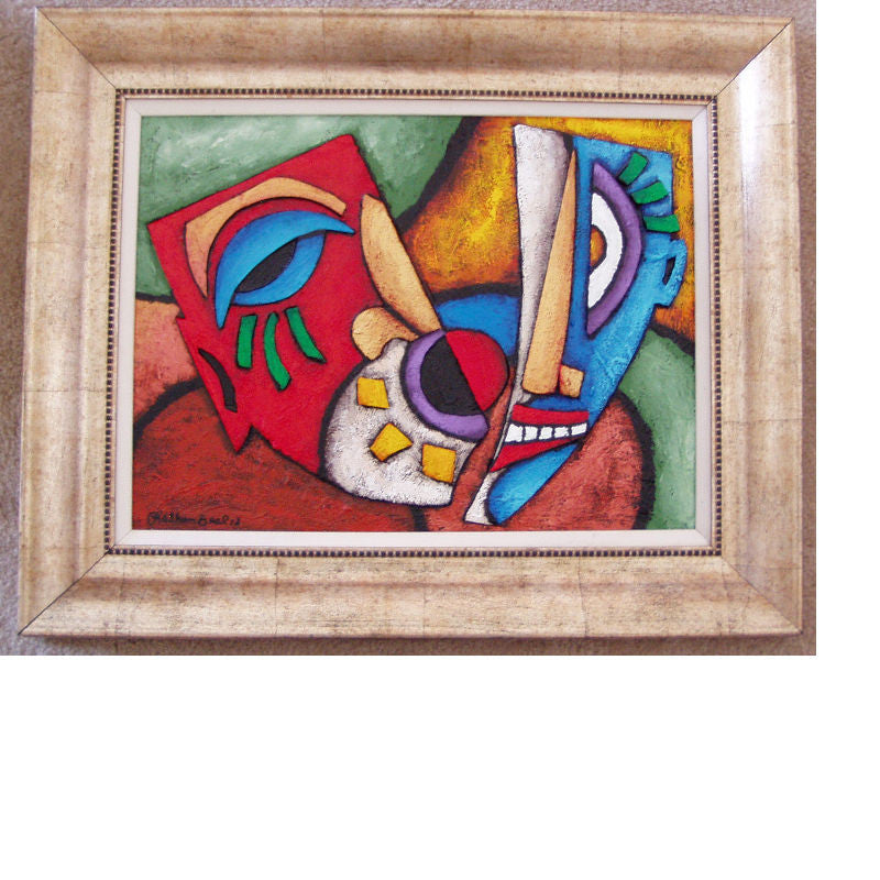 Mask #126 Abstract Original - Lashunbeal.com