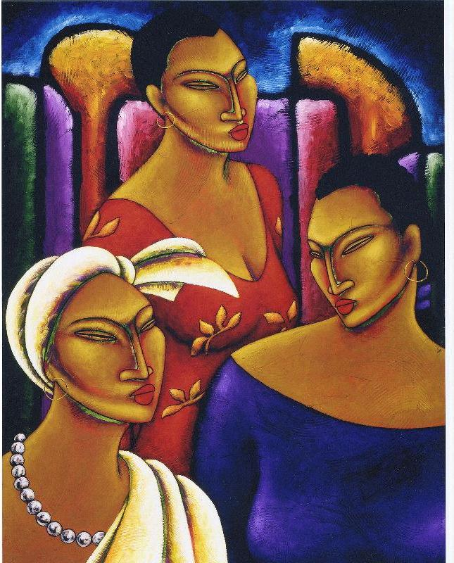 The Women of Beau Monde Limited Edition Lithographs - Lashunbeal.com