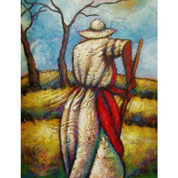Working The Field Giclee Art Print On Canvas