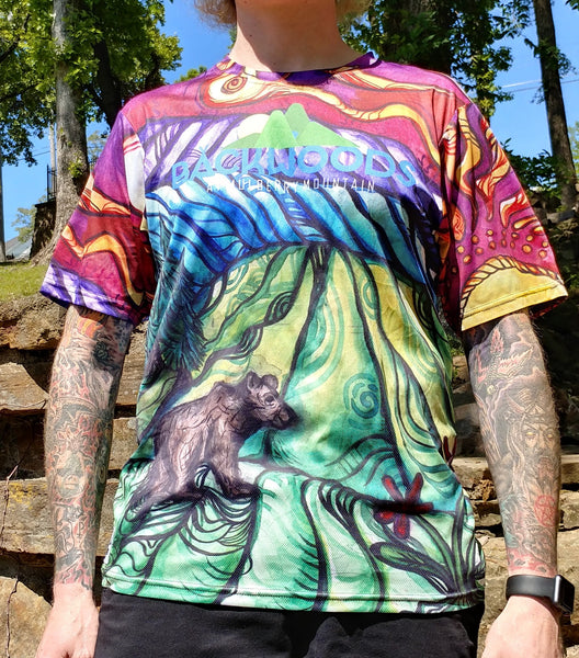 "Visionary Landscape ""Trippy bear"" Hi-Color T-Shirt Backwoods at Mulberry Mountain"