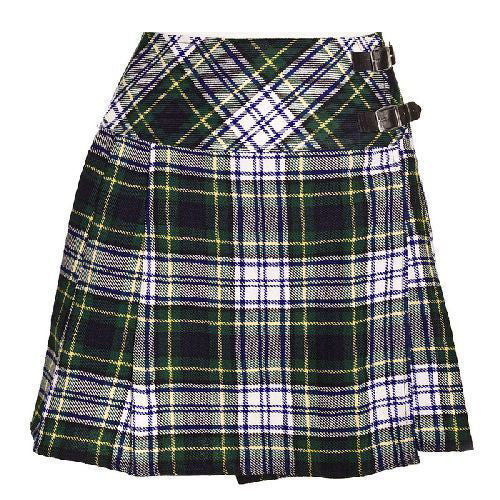New Ladies Dress Gordon Tartan Scottish Mini Billie Kilt Mod Skirt