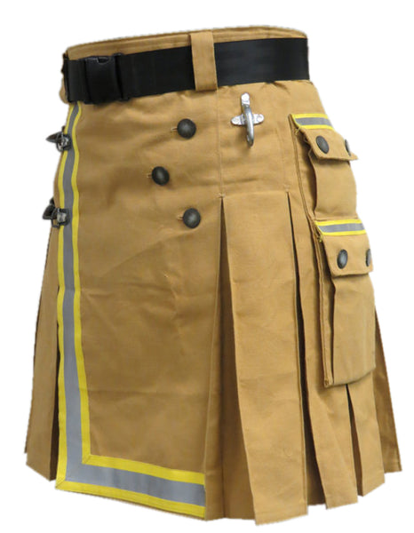 New Khaki Fireman Tactical Duty Utility Kilt