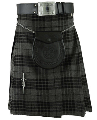 5 Yards Scottish Highland Grey Watch Tartan Kilt