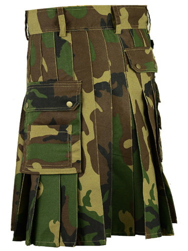 Scottish Army Camo Deluxe Utility Cotton Kilt