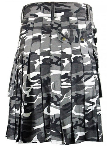 Tactical Duty Urban Camo Cotton Utility Kilt