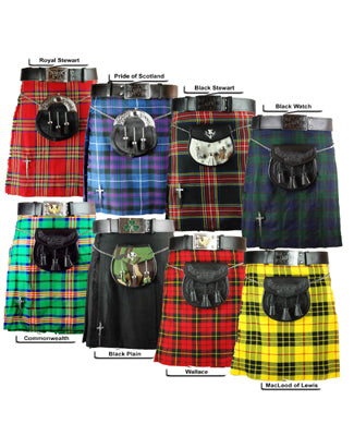 Highland Kilts 5 Yards Wallace Tartan Kilt