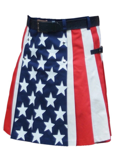 Men's Hybrid Cotton American Flag Stylish Kilts