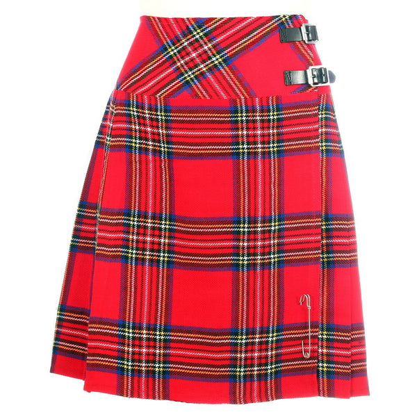 New Ladies Royal Stewart Tartan Scottish Mini Billie Kilt Mod Skirt