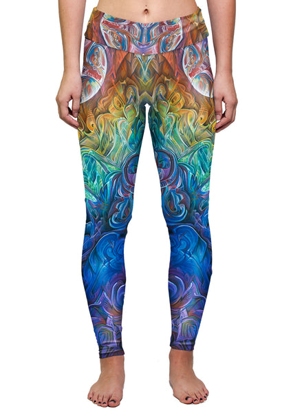 """DAWN OF TRANSCENDENTAL JUBILANCE"" WOMEN'S ACTIVE LEGGINGS"