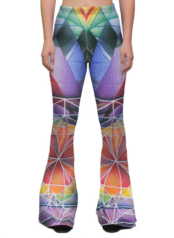 """UNIVERSAL MIND"" WOMEN'S BELL FLARE LEGGINGS"
