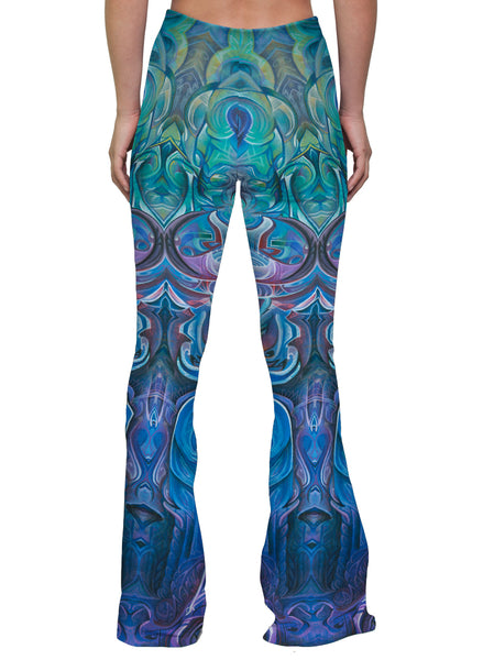 """DAWN OF TRANSCENDENTAL JUBILANCE"" WOMEN'S BELL FLARE LEGGINGS"