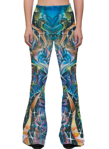 """STAR PETALS"" WOMEN'S BELL FLARE LEGGINGS"