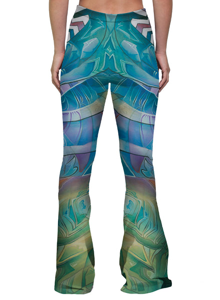 """THE SUN SHINES FOR ALL WITHOUT RESERVATION"" WOMEN'S BELL FLARE LEGGINGS"