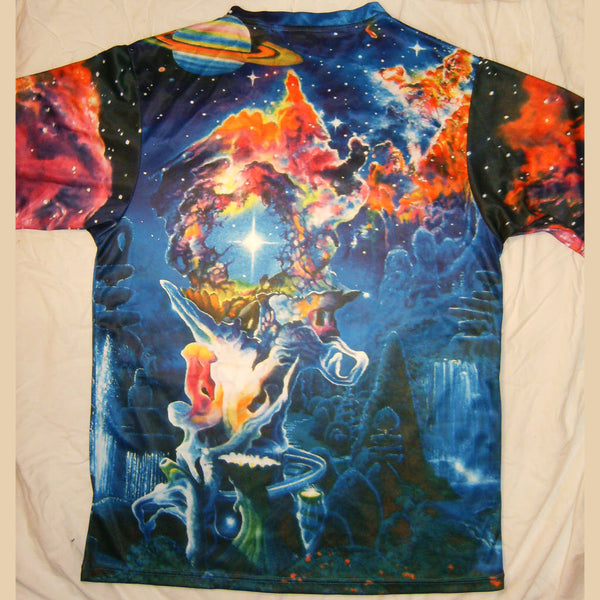 The Garden In The Valley Of The Stars - Short Sleeve T-Shirt - Lit Like LUMA - Future Fashion and Modern Innovations - 5