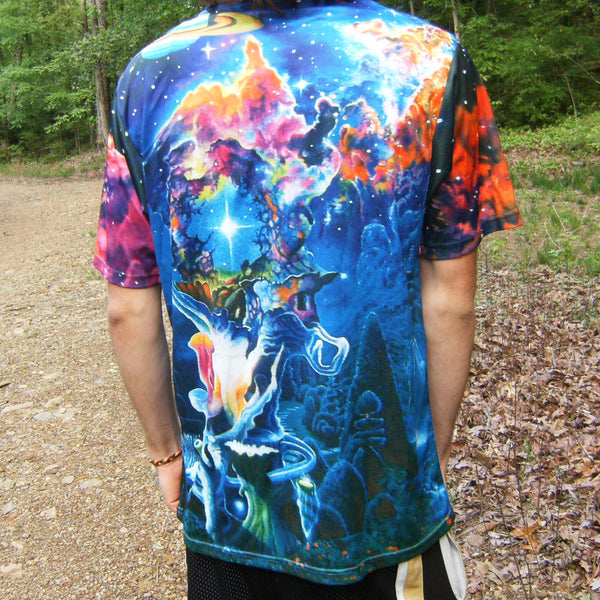 The Garden In The Valley Of The Stars - Short Sleeve T-Shirt - Lit Like LUMA - Future Fashion and Modern Innovations - 2