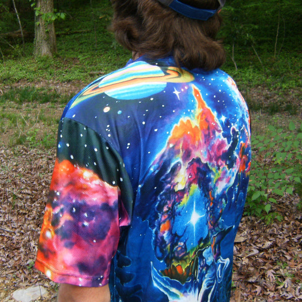 The Garden In The Valley Of The Stars - Short Sleeve T-Shirt - Lit Like LUMA - Future Fashion and Modern Innovations - 3