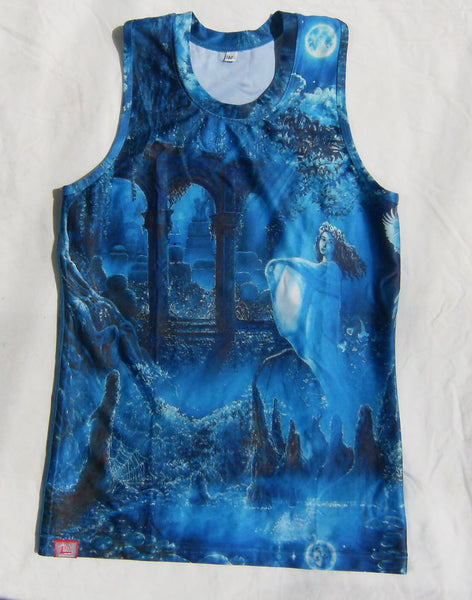 Moonscape II Ladies Tank - Lit Like LUMA - Future Fashion and Modern Innovations - 1