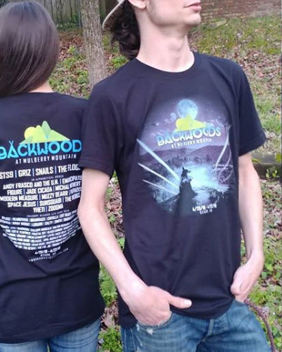 Official Festival Lineup T-Shirt Backwoods at Mulberry Mountain