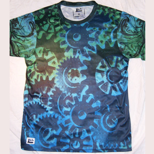 Trippy Gears - Short Sleeve T-Shirt - Lit Like LUMA - Future Fashion and Modern Innovations - 4