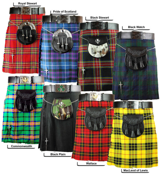 5 Yards Black Watch Tartan Kilt Highlanders Kilts