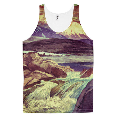 'The Upwards Fall' Classic fit tank top (unisex) by Kijiermono