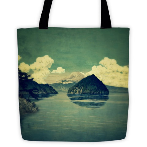 'Distant Blues' Tote bag by Kijiermono