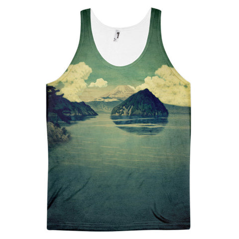'Distant Blues' Classic fit tank top (unisex) by Kijiermono