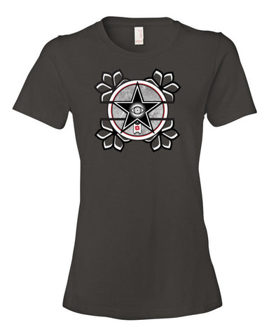 'The All-Seeing Eye'  Women's short sleeve t-shirt by Eye-Rebel for Primitive Reason