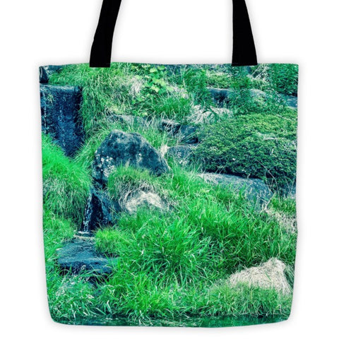 'Green Upon the Rocks' Tote bag by Momotaro Photography