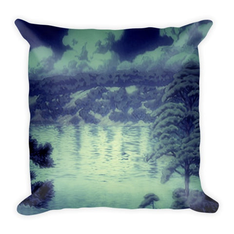 'Chased by the Moon' Pillow by Kijiermono