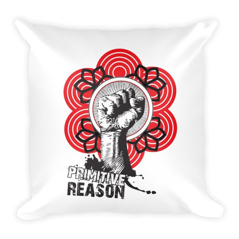 'Fist of Fury' Pillow by Eye-Rebel for Primitive Reason
