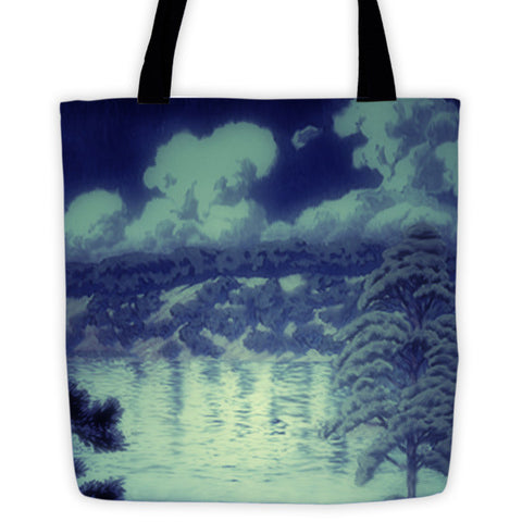 'Chased by the Moon' Tote bag by Kijiermono