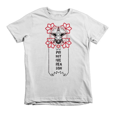 'A Flower For Revolution' Short sleeve kids t-shirt by Eye-Rebel for Primitive Reason