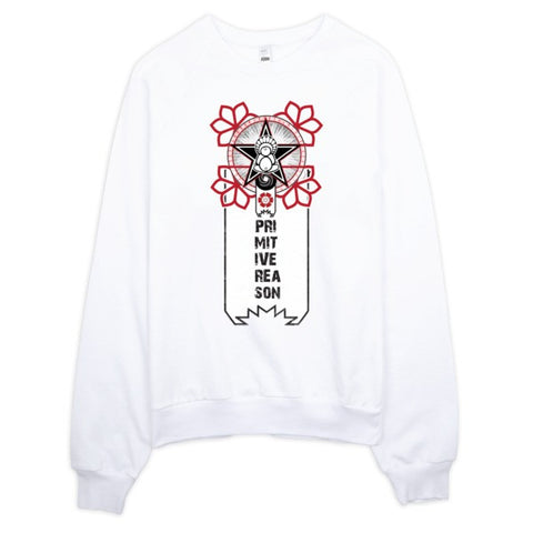 'A Flower For Revolution' Raglan sweater by Eye-Rebel for Primitive Reason