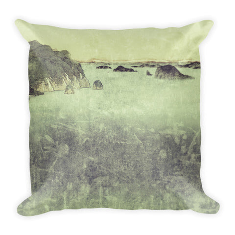 'Long Ways to Inchen' Pillow by Kijiermono