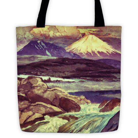 'The Upwards Fall' Tote bag by Kijiermono