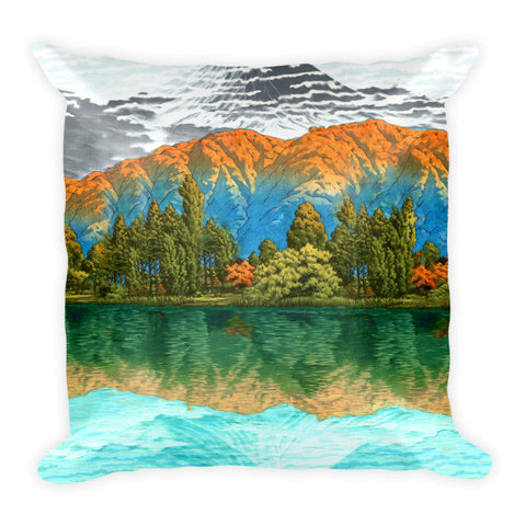 'The Unknown Hills in Kamakura' Pillow by Kijiermono