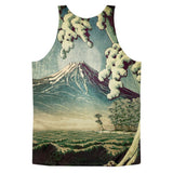 '5 Lakes at Moonlight' Classic fit tank top (unisex) by Kijiermono