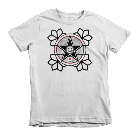 'The All-Seeing Eye'  Short sleeve kids t-shirt by Eye-Rebel for Primitive Reason