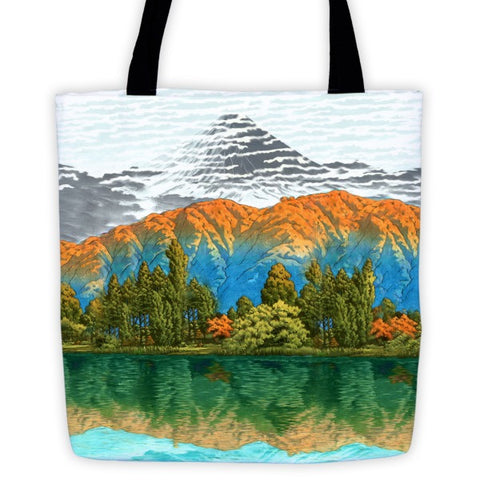 'The Unknown Hills in Kamakura' Tote bag by Kijiermono