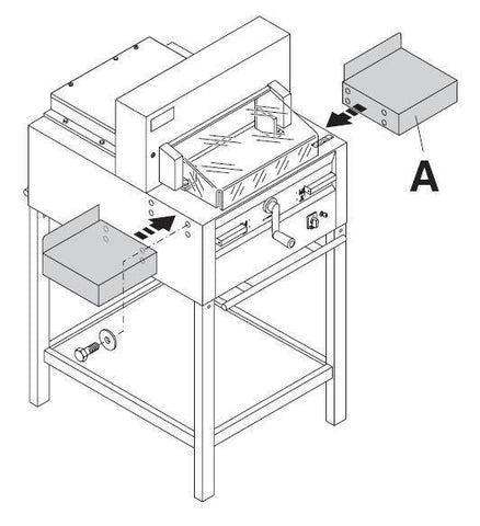 MBM Side Tables for the 4815, 4850, 4860, 5255, 5260, 6655, 6660 Paper Cutter - Whitaker Brothers