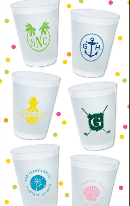 Personalized dishwasher safe reusable cups