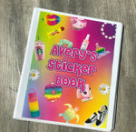 Personalized Sticker or Trading Card Books