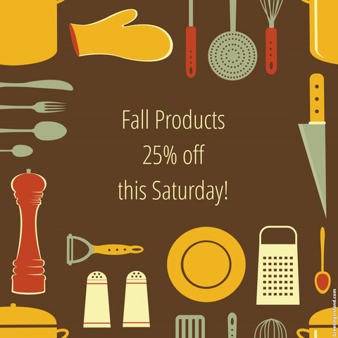 Fall Product Sale
