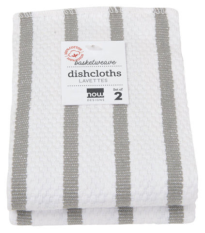 Dishcloth Set - Grey Stripes